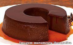 Receita de pudim de chocolate no micro-ondas para a fase cruzeiro PL.