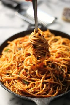"in-my-mouth: "" Simple Spaghetti Fra Diavolo """