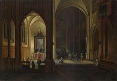 An Evening Service in a Church by Pieter Neeffs the Elder and Bonaventura Peeters the Elder, 1649