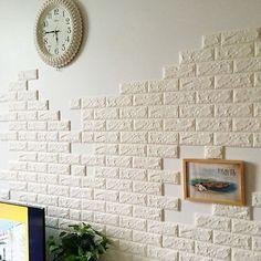 Brick Pattern Wallpaper Bedroom Living Room Modern Wall Background TV Decor Image 3 of 5 Brick Pattern Wallpaper, Brick Wall Wallpaper, Wall Stickers Wallpaper, Wallpaper Decor, Wall Stickers Home Decor, Diy Wall Decor, Adhesive Wallpaper, Bedroom Wallpaper, Wallpaper Roll