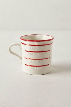 Peppermint Stripe Measuring Cup  #anthropologie