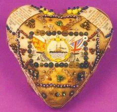 Sailor Pin Cushion Tiki Lounge, Blue Hawaii, Pincushions, Fabric Art, Spring 2016, Sailor, Initials, Arts And Crafts, Hearts