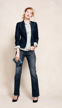 Academy Riding Jacket, Favorite Casual Cotton Shirt and Denim Bootcut Jeans