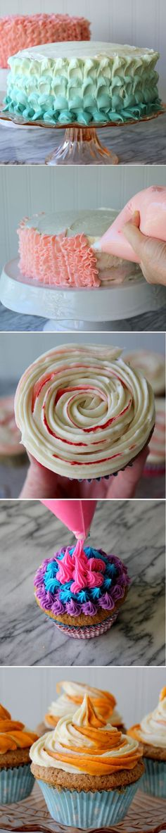You'll never have boring frosting again! Super simple #DIY tricks for amazing frosting. #food