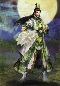 View an image titled 'Zhuge Liang (Shu) Art' in our Dynasty Warriors 5 art gallery featuring official character designs, concept art, and promo pictures. Fantasy Heroes, Fantasy Characters, Fantasy Art, Dynasty Warriors 5, Warriors Game, Character Art, Character Design, Seven Knight, Oriental