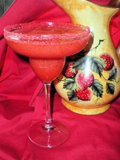 Frozen Strawberry Margaritas O yes love these! Strawberry Tequila, Frozen Strawberry Margarita, Margarita Punch, Margarita Recipes, Chocolate Mousse Cake, Chocolate Syrup, Choux Pastry, Create A Recipe, Party Drinks