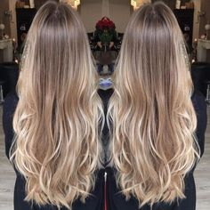 Golden Blonde Balayage for Straight Hair - Honey Blonde Hair Inspiration - The Trending Hairstyle Medium Blonde Hair, Blonde Hair Looks, Honey Blonde Hair, Long Brunette Hair, Short Blonde, Hair Color Balayage, Hair Highlights, Natural Blonde Balayage, Blonde Highlights