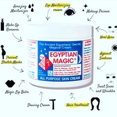 "This is the most detailed benefits of this amazing magic cream. Get a jar of Egyptian Magic Cream ✨ (Divine Love) for yourself and your loved one.  Winter time skin savior.   Egyptian Magic All-Purpose Healing Cream  100% NATURAL INGREDIENTS  Egyptian Magic All-Purpose Skin Cream ""The People's Choice"" is made with the blessings and guidance of our ancestors and with the following pure ingredients: Olive Oil, Bees Wax, Honey, Bee Pollen, Royal Jelly, Bee Propolis & Divine Love."