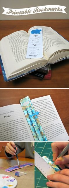 Teen Craft Ideas {Custom Bookmark Printables} *to inspire the young artists and readers in our lives. Diy Crafts With Cds, Crafts For Teens, Diy Craft Projects, Diy For Kids, Teen Crafts, Paper Crafts, Craft Ideas, Custom Bookmarks, Printable Bookmarks