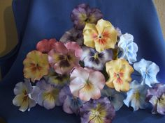 Pansies Of Many Colors  on Cake Central