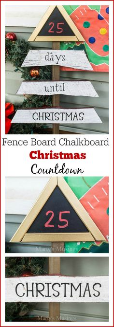 This Christmas countdown made from scrap fence board, chalkboard and Behr Paint will help entertain the kids during the long march to Christmas Day. Marty's Musings shows you how to use scrap wood and a little creativity for a one of a kind, inexpensive holiday decoration.