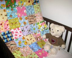 """Animal """"I Spy"""" - handmade baby quilts for boys or girls"""