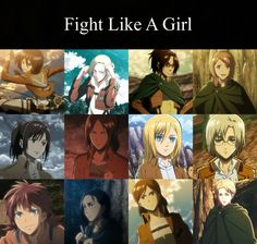 attack on titan girls
