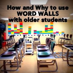 How and why to use word walls with older students. This post has some great ways to make this strategy appropriate for older students. Would have to do some modifications if using in special education setting, but a great way to get started. Read more at Vocabulary Instruction, Teaching Vocabulary, Vocabulary Activities, Teaching Strategies, Teaching Reading, Vocabulary Strategies, Vocabulary Wall, Word Wall Activities, Science Word Walls
