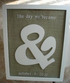 #DIY The Day We Became And.  Love this!
