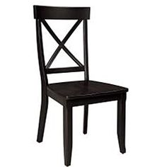 @Overstock - This stately 5-piece dining set from Home Styles includes a round pedestal dining table and four 30-inch high dining chairs. This elegant set features a solid hardwood construction in a black finish.http://www.overstock.com/Home-Garden/Home-Styles-Black-5-piece-Dining-Furniture-Set/6626642/product.html?CID=214117 $582.11