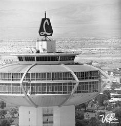 The Landmark Hotel & Casino tower, vintage Las Vegas photo.  Check out the wide open desert.  #LasVegasNewsBureau