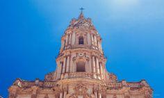 le clocher de la cathédrale de Modica, en Sicile