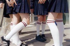 Sporty high socks white