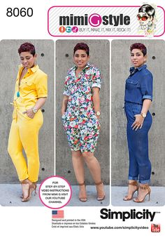 Simplicity Misses' Jumpsuits from Mimi G Style 8060