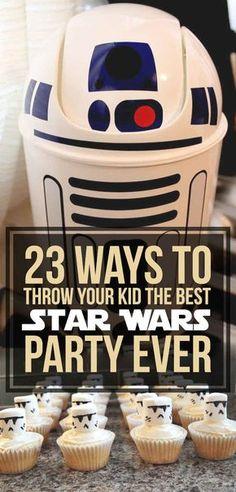 Si los peques de la casa son fans incondicionales de la saga, prepárales una fiesta que no olvidarán jamás. (Pero no invites a Anakin, que está rarito últimamente)