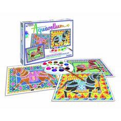 Sentosphère - Aquarellum - Cavalli - Set da dipingere e colorare - lalberoazzurro.net