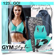 Gym Style by mila-me on Polyvore....    Victoria's Secret Sport Incredible by Victoria's Secret Front-close Sport Bra,print     $25 victoriassecret.com...          Deha Tights     £34 zalando.co.uk           UNIQLO Women Sweat Long Sleeve Full Zip Hooded Jacket     $35 uniqlo.com....              Adidas Sport Performance Tf Bra     £30 nelly.com...........             Onitsuka Tiger by Asics Ult-Racer Women's Shoes     $56 6pm.com.........
