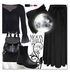 """Dark Style"" by jecakns ❤ liked on Polyvore featuring MAC Cosmetics"