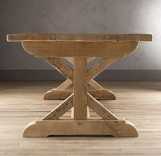 restoration hardware farmhouse table could i have this trestle built for my old tabletop
