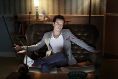 Andrew Scott -  he is amazing! <-- it shows from his posture while watching T.V. Who sits like that? - Only awesome people, that's who.