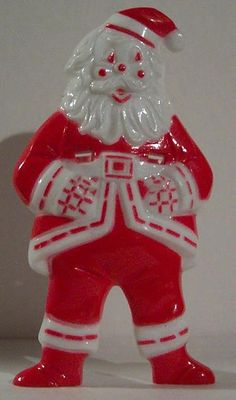 Vintage Hard Plastic Santa Sucker Holder