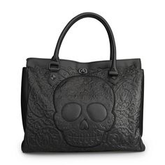 Purple Leopard Boutique - Loungefly Purse Black on Black Lattice Skull Tote Bag, $85.00 (http://www.purpleleopardboutique.com/loungefly-purse-black-on-black-lattice-skull-tote-bag/)