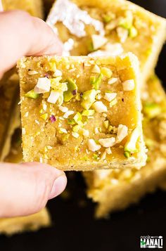 Besan Burfi is a popular Indian sweet made of chickpea flour and ghee. This delicious homemade fudge is also gluten-free and perfect for the festive season! Indian Dessert Recipes, Indian Sweets, Indian Recipes, Diwali Recipes, Indian Foods, Charcuterie, Cooking With Ghee, Sweet Crepes Recipe, Burfi Recipe
