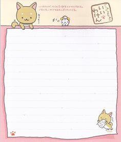 Photo by rinsweetshop Cute Notes, Good Notes, Memo Template, Memo Notepad, Pen Pal Letters, Kawaii Doodles, Kawaii Stationery, Letter Set, Kawaii Wallpaper