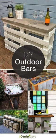 Best DIY Projects: Cocktails Anyone? • DIY Outdoor Bars! • A round-up of Ideas and Tutorials from around the web.