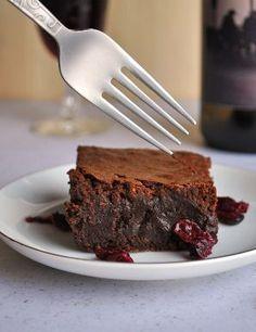Red Wine Brownies Recipe with Drunken Cranberries