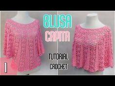 Como tejer una blusa amplia en varios talles (1/2) - YouTube
