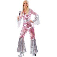 Ladies Waterloo 70s 1970s Pop Abba Jumpsuit Hippy Fancy Dress Costume GBP 20.00