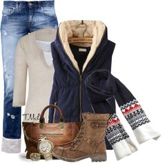 """""""Fair Isle Scarf"""" by tmlstyle on Polyvore"""