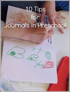 Ten tips for keeping a journal in preschool. Some good tips for next year& journal writing activities. Preschool Literacy, Early Literacy, Literacy Activities, In Kindergarten, Preschool Activities, Teach Preschool, Preschool Music, Preschool Projects, Color Activities
