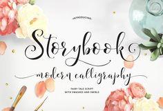 Storybook Calligraphy Script ~ Script Fonts on Creative Market Calligraphy Fonts, Typography Fonts, Script Fonts, New Fonts, Modern Calligraphy, Handwritten Letters, Calligraphy Alphabet, Monogram Fonts, Monogram Letters