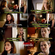 """The Originals – TV Série - Niklaus """"Klaus"""" Mikaelson - Joseph Morgan - Hayley Marshall - Phoebe Tonkin - rei e rainha - King and queen - lobo - Wolf - Rebekah Mikaelson - Claire Holt - brothers - irmãos - casal - couple - amor - love - citações - quotes - frases - tumblr - 1x03 - Tangled Up In Blue - Enroscado Em Azul"""