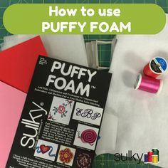 I was browsing the Sulky Embroidery Club and found a cool heart digitized for Sulky Puffy Foam™ - This is how you use it!