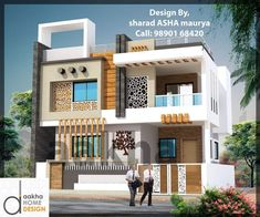 Two Family House Plans Stylist Design Ideas Interior House Front Wall Design, House Outer Design, House Main Gates Design, 3 Storey House Design, Two Story House Design, House Outside Design, Village House Design, Kerala House Design, Bungalow House Design