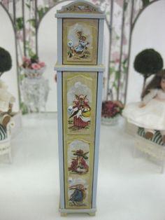 Dollhouse Miniature Artisan Karen Markland Tall Cupboard Painted Beatrix Potter