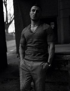 Amir wears top and trousers by Missoni