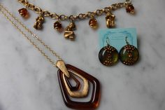 More lovely brown lucite for fall from Kelley Hollis Pendant Necklace, Brown, Fall, How To Wear, Jewelry, Fashion, Autumn, Moda, Jewlery