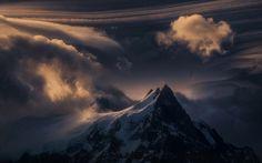 landscape, Mountain, Clouds, Snow HD Wallpaper Desktop Background