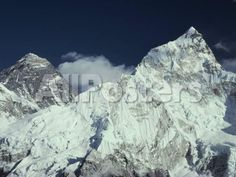 View of Mount Everest and Mount Nuptse Landscapes Photographic Print - 41 x 30 cm