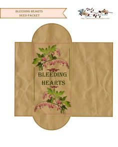 Free Bleeding Heart Seed Packet  ( over 15 more stlyes & types of packs to choose from)